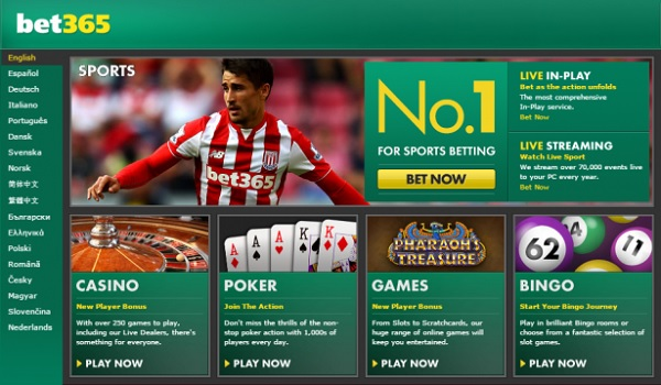 Bet365 bettingside med oddsbonus og live streaming