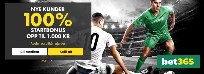 Betting bonus fra Bet365