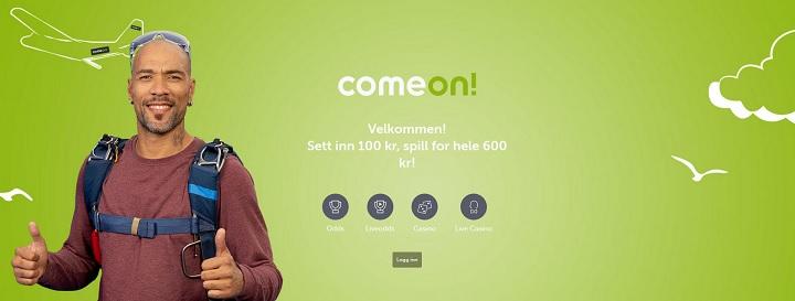 ComeOn med den største bonusen på norske bettingsider