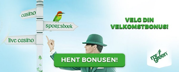 Mr Green odds inskuddsbonus 2017