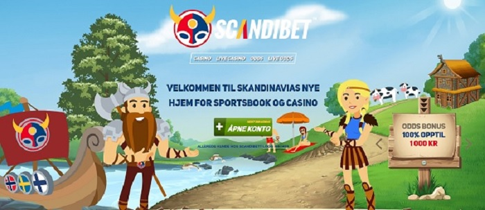 Scandibet ny betting side med 1000 kr bonus